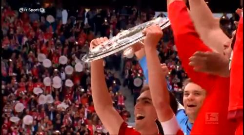 Philipp Lahm and the Meisterschale