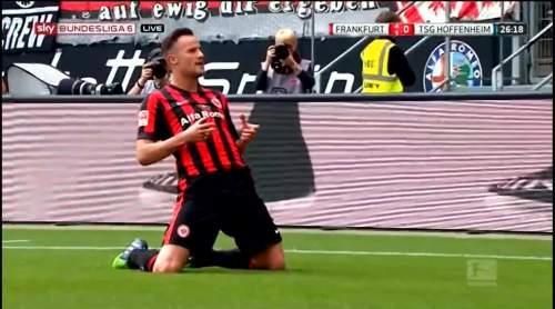 Seferovich celebrates - Frankfurt v TSG 1