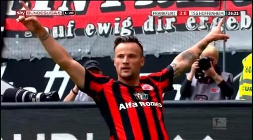 Seferovich celebrates - Frankfurt v TSG 2