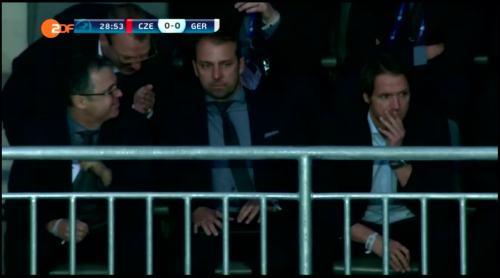 Hansi Flick at Czech Republic U21 v Germany U21 2