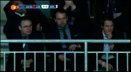 Hansi Flick at Czech Republic U21 v Germany U21 3