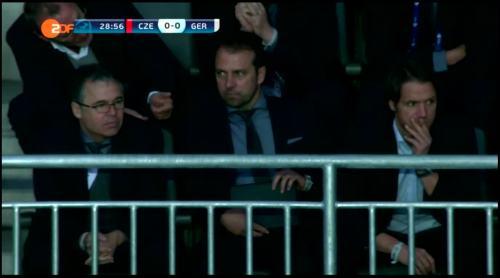 Hansi Flick at Czech Republic U21 v Germany U21 4