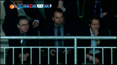 Hansi Flick at Czech Republic U21 v Germany U21 5