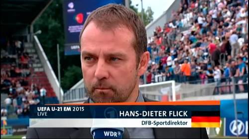 Hansi Flick - HT interview - Portugal U21 v Germany U21 1