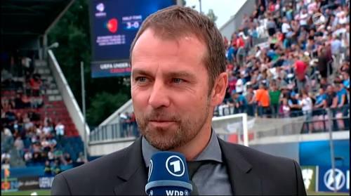 Hansi Flick - HT interview - Portugal U21 v Germany U21  2