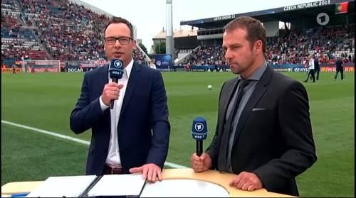 Hansi Flick - HT interview - Portugal U21 v Germany U21 3