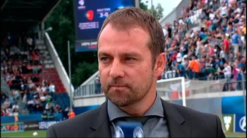 Hansi Flick - HT interview - Portugal U21 v Germany U21  4