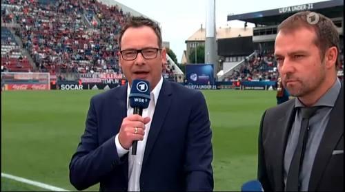 Hansi Flick - HT interview - Portugal U21 v Germany U21  5