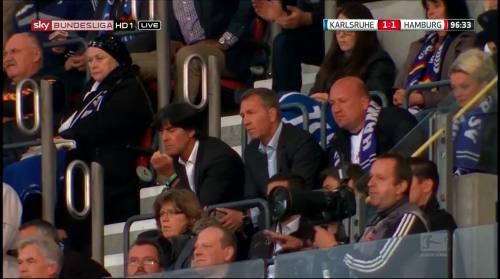 Joachim Löw & Andreas Köpke at Karlsuher SC v HSV 2