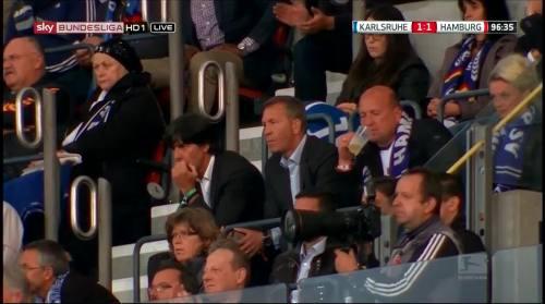 Joachim Löw & Andreas Köpke at Karlsuher SC v HSV 3