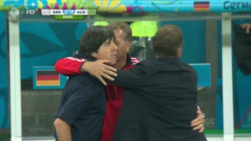 Joachim Löw & Hansi Flick – Germany v Algeria 27