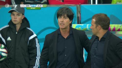 Joachim Löw & Hansi Flick – Germany v Algeria 5