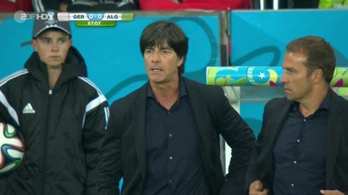 Joachim Löw & Hansi Flick – Germany v Algeria 6