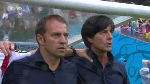 Joachim Löw & Hansi Flick – USA v Germany 1