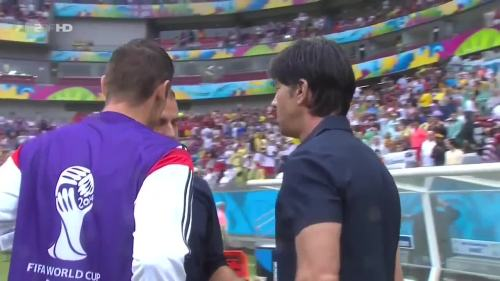 Joachim Löw & Hansi Flick – USA v Germany 11