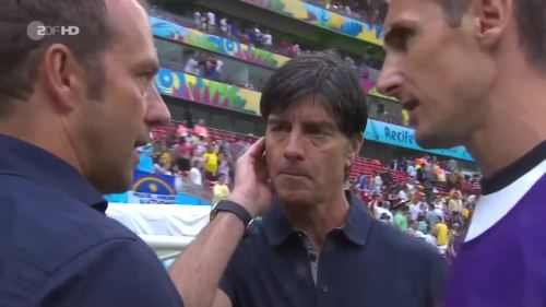 Joachim Löw & Hansi Flick – USA v Germany 13
