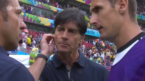 Joachim Löw & Hansi Flick – USA v Germany 14
