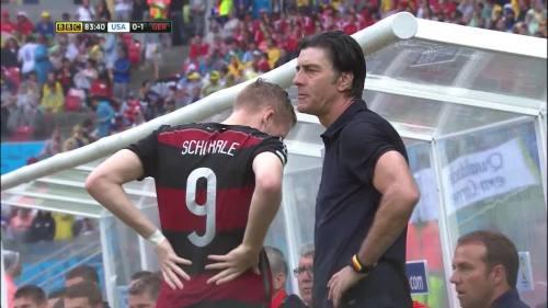 Joachim Löw & Hansi Flick – USA v Germany 18
