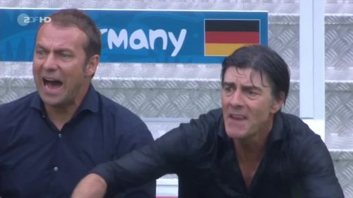 Joachim Löw & Hansi Flick – USA v Germany 19