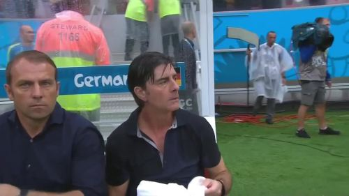 Joachim Löw & Hansi Flick – USA v Germany 24
