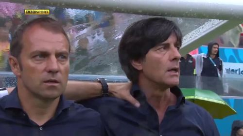 Joachim Löw & Hansi Flick – USA v Germany 3