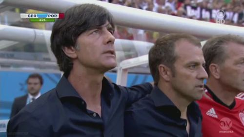 Joachim Löw & Hansi Flick - Germany v Portugal 1