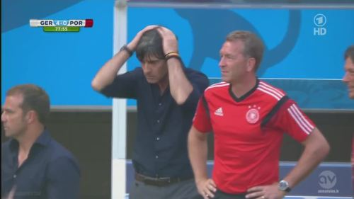 Joachim Löw & Hansi Flick - Germany v Portugal 11