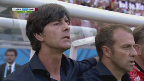 Joachim Löw & Hansi Flick - Germany v Portugal 2