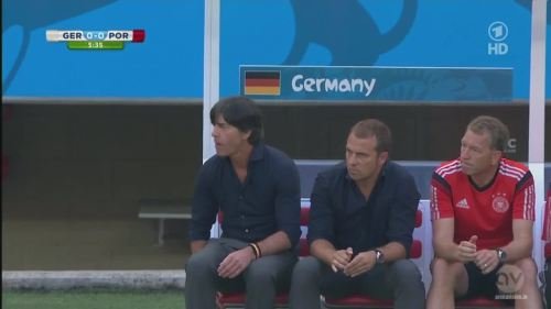 Joachim Löw & Hansi Flick - Germany v Portugal 3