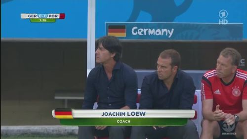 Joachim Löw & Hansi Flick - Germany v Portugal 4