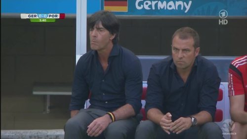 Joachim Löw & Hansi Flick - Germany v Portugal 6