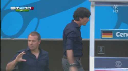 Joachim Löw & Hansi Flick - Germany v Portugal 8