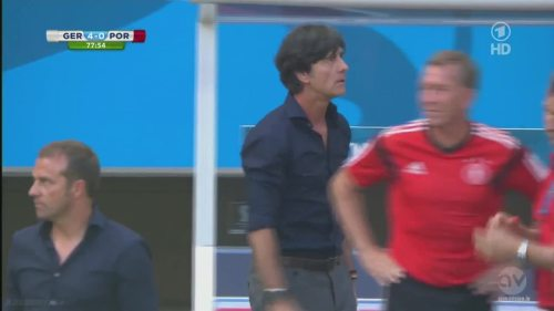 Joachim Löw & Hansi Flick - Germany v Portugal 9