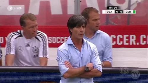 Joachim Löw & Hansi Flick - USA v Germany 3