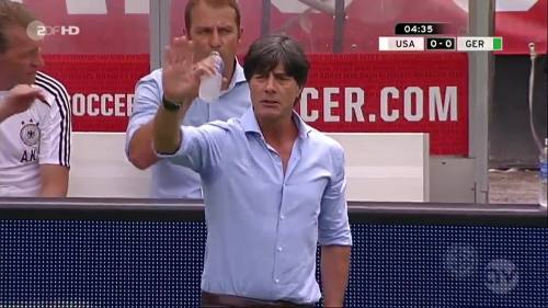 Joachim Löw & Hansi Flick - USA v Germany 4
