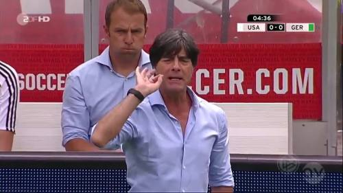 Joachim Löw & Hansi Flick - USA v Germany 5