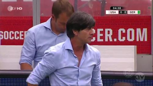Joachim Löw & Hansi Flick - USA v Germany 6