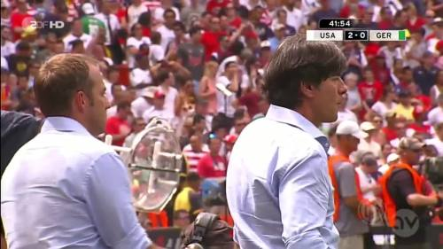 Joachim Löw & Hansi Flick - USA v Germany 8