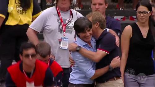 Joachim Löw & Jürgen Klinsmann - USA v Germany 3