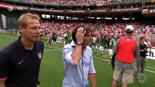 Joachim Löw & Jürgen Klinsmann - USA v Germany 5