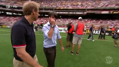 Joachim Löw & Jürgen Klinsmann - USA v Germany 6