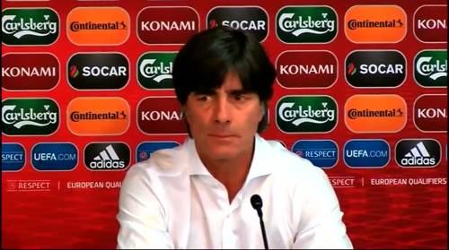 Joachim Löw - Post-match Pressekonferenz - Deutschland v Gibraltar 2