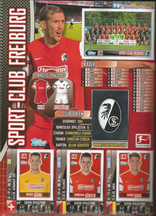 SC Freiburg - Bundesliga album 2014-15 1