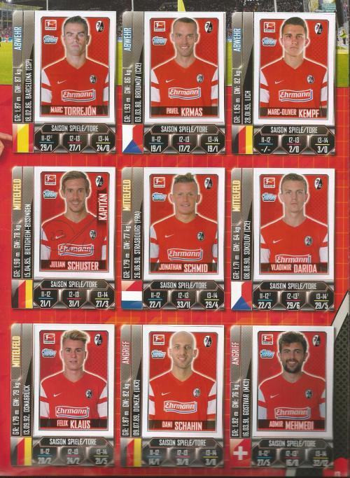 SC Freiburg - Bundesliga album 2014-15 2