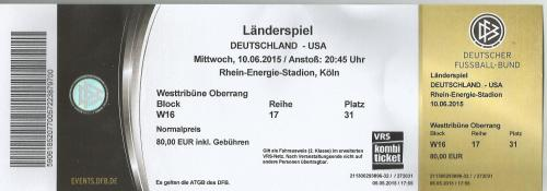 Deutschland v USA - ticket