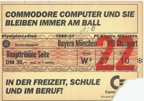 FCB v VfB Stuttgart - 1986-87 ticket