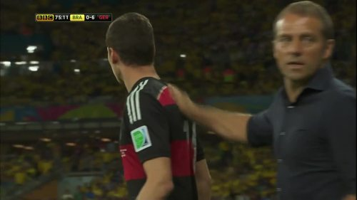 Hansi Flick – Brazil v Germany - 2nd half 2