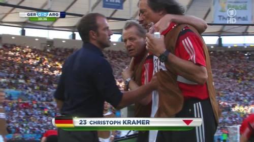 Hansi Flick – Germany v Argentina – 1st half 1