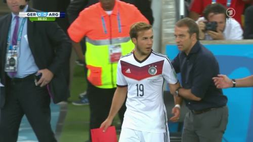 Hansi Flick – Germany v Argentina – 2nd half 1