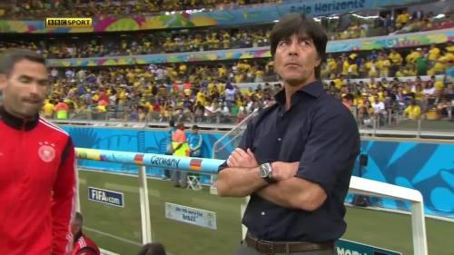 Joachim Löw – Brazil v Germany – 1st half 1